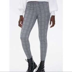 Plaid high rise leggings